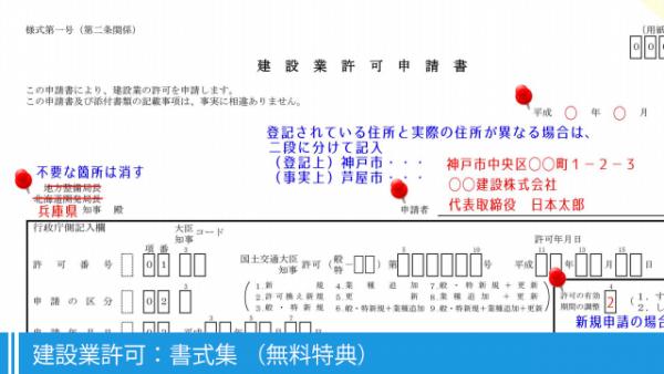 建設業許可:書式集